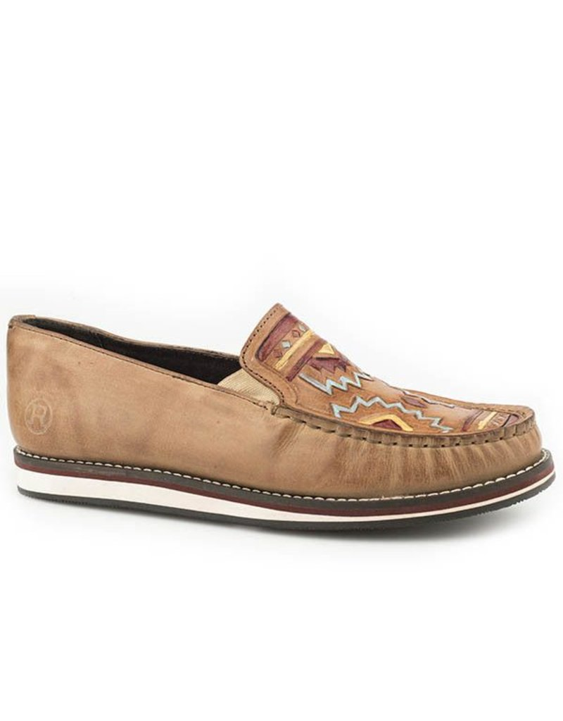 Roper Pocahontas Hand Tooled Leather Mocs