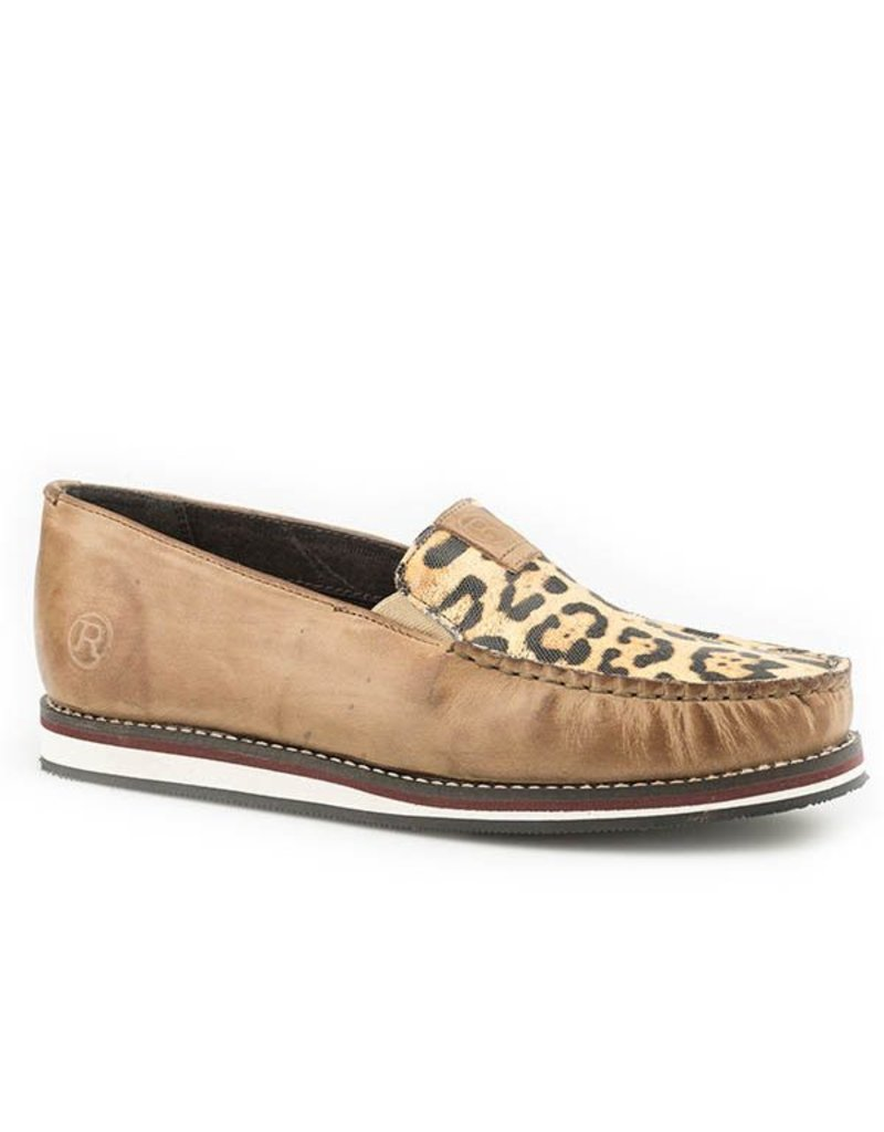 Roper Meow Leopard Printed Leather Mocs