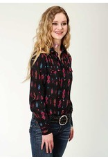 Roper Aztec Printed Rayon Western Blouse