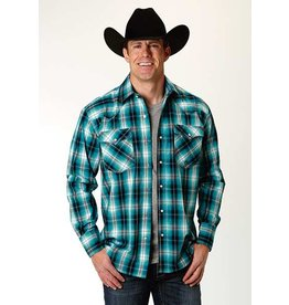 Roper Men's Blue Mesa Plaid Long Sleeve Shirt
