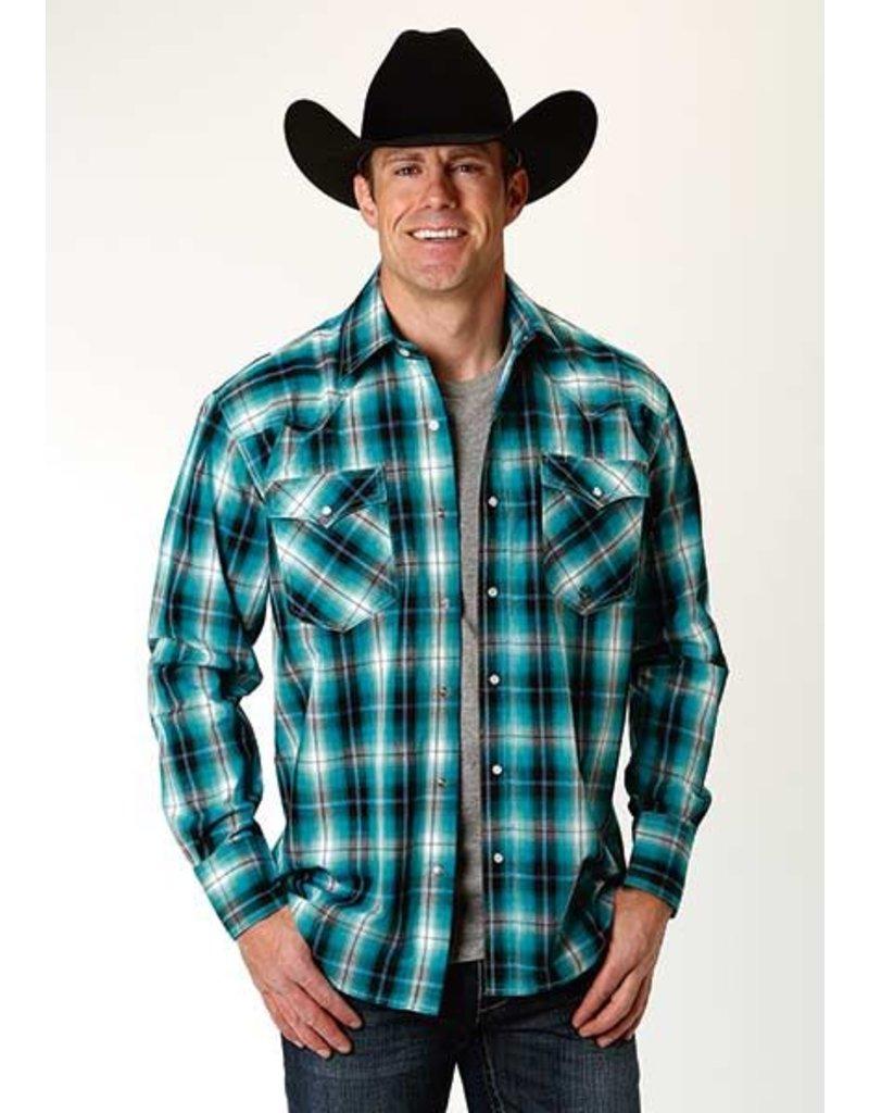 17fbf84b33 Men s Blue Mesa Plaid Long Sleeve Shirt - Ray s Western Wear   Saddlery