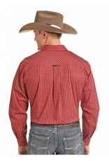 Panhandle Competition Tuf Cooper Performance Red Stretch Poplin Print Shirt