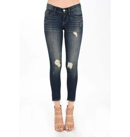 Judy Blue Dark Blue Ankle Frayed Denim