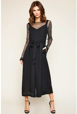 Hayden Sleeveless Black Jumper with Belt