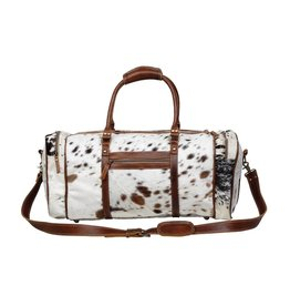Myra The Mini Grand Cowhide Hair-On Duffle Bag