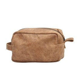 Myra Leather Shaving Kit Bag