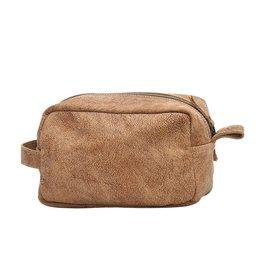 Myra Leather Shaving Kit Bag