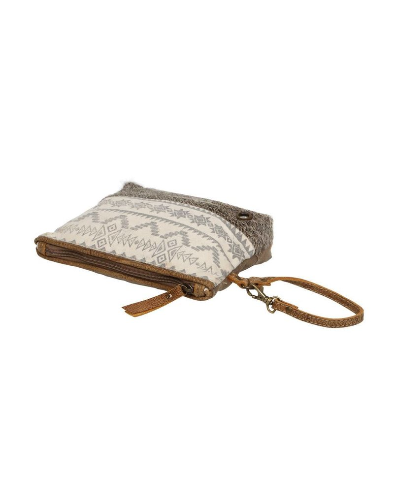 Myra Tribal Hair-On Bottom Travel Pouch