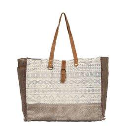 Myra Offhand Weekender Cowhide Combination Bag
