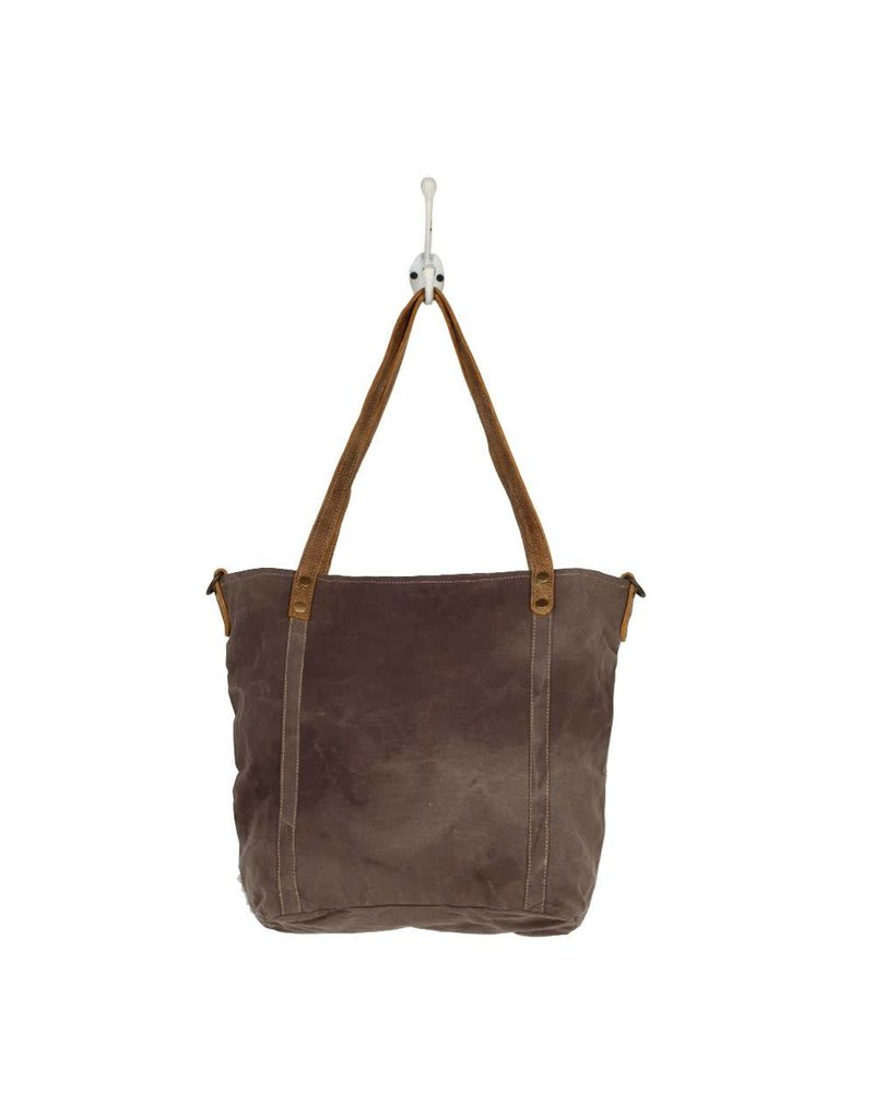 Myra Abstract Emblem Tote Bag