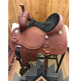 "Martin Saddlery 13.5"" Wyoming Basket Black Suede Stingray Barrel Saddle"