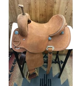 "Cactus Saddlery 14"" Rough Out Dynamic Edge By Fallon Taylor Barrel Saddle"