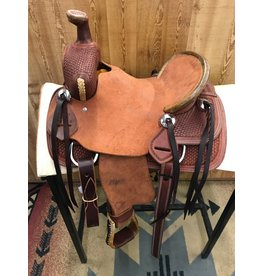 "12"" Youth Rough Out Ranch Association Saddle"