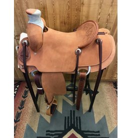 "Cactus Saddlery 15.5"" Cactus Rough Out Wade Horn Rancher"