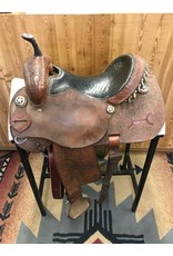 "14.5"" Used Charlie Ridley Barrel Saddle"