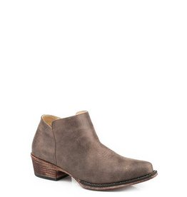 Roper Sofia Brown Faux Leather Shorty Boots