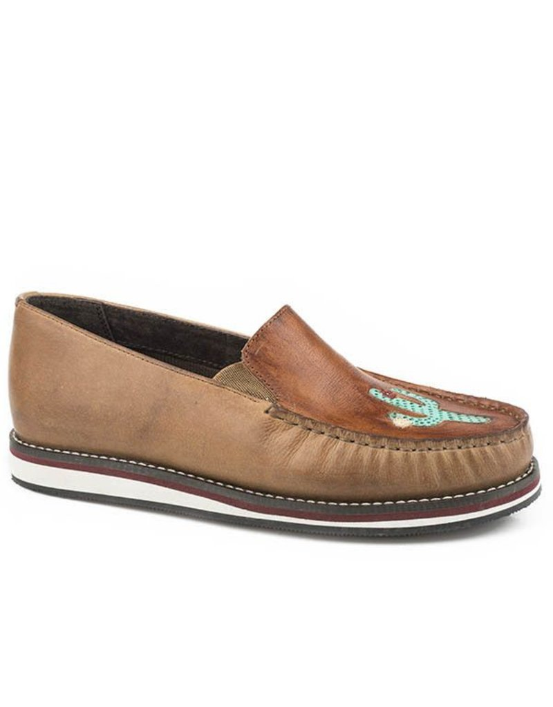 Roper Lone Cactus Tan Burnished Leather Slip-On