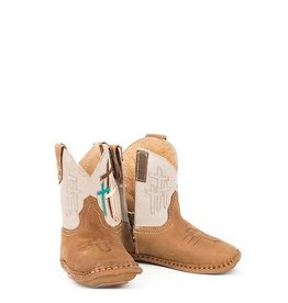 Roper Cowbabies Lil Cross All Leather Infant Booties