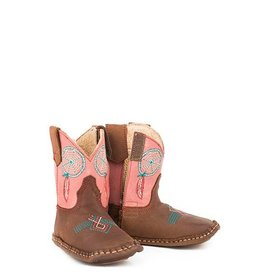 Roper Cowbabies Little Dreams All Leather Infant Booties