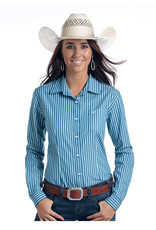Panhandle Slim Ladies' Rough Stock Chatham Classic Stripes Long Sleeve Shirt