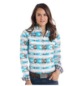 Panhandle Slim Ladies' Rough Stock Lavaca Vintage Aztec Print Long Sleeve Shirt