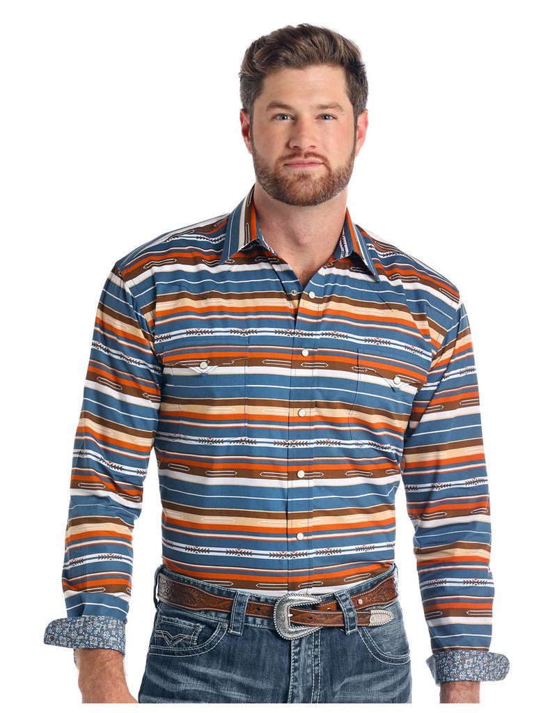 Panhandle Slim Men's Rough Stock Chicon Vintage Long Sleeve Shirt