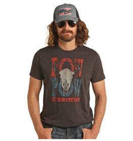 "Rock & Roll Cowboy Dale Brisby Charcoal ""Pow Pow"" Tee"