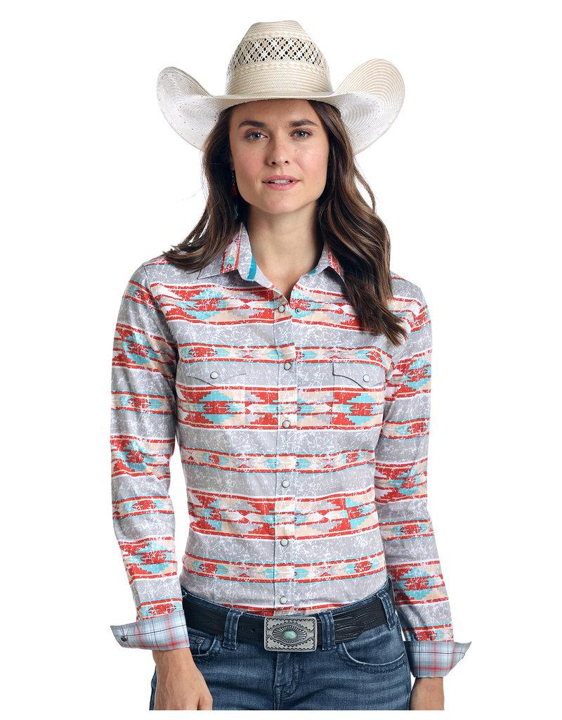 Panhandle Slim Ladies' Rough Stock Lavaca Vintage Aztec Print Shirt