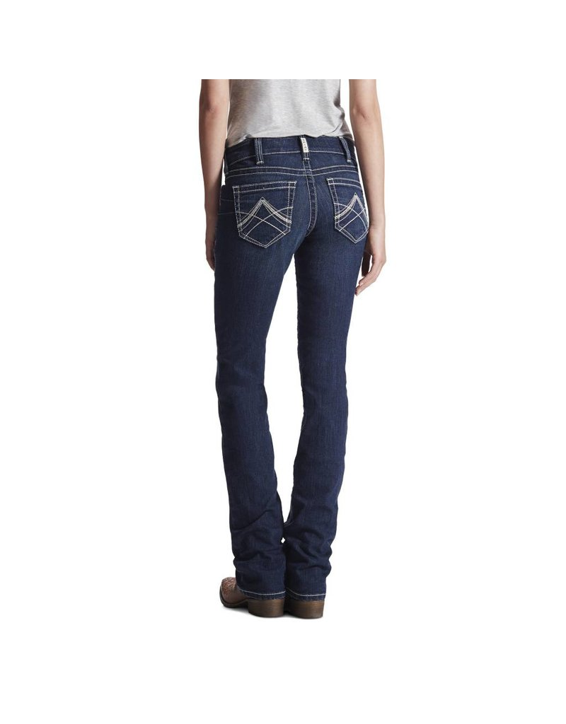 Ariat Ariat R.E.A.L. Mid Rise Icon Stackable Straight Leg Ocean Jean