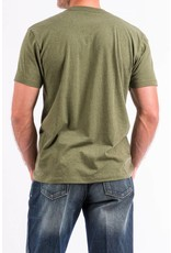 Cinch Cinch Brand Olive Cotton-Poly Basic Tee