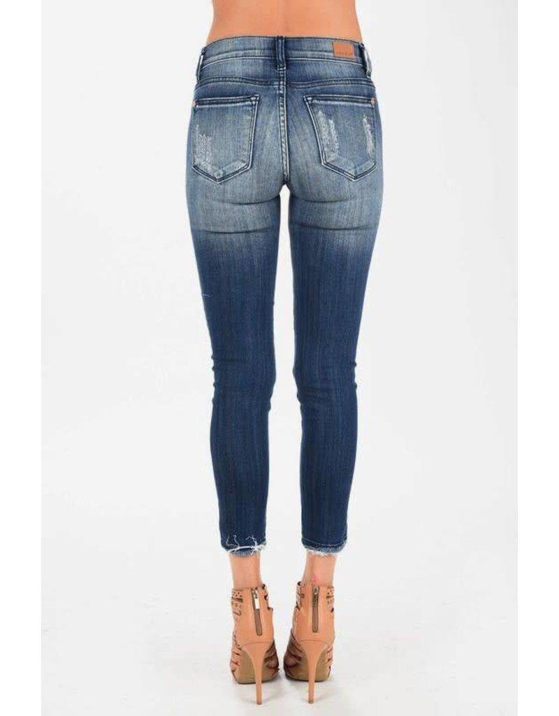 Judy Blue Judy Blue Dark Blue Ankle Frayed Skinny Jean