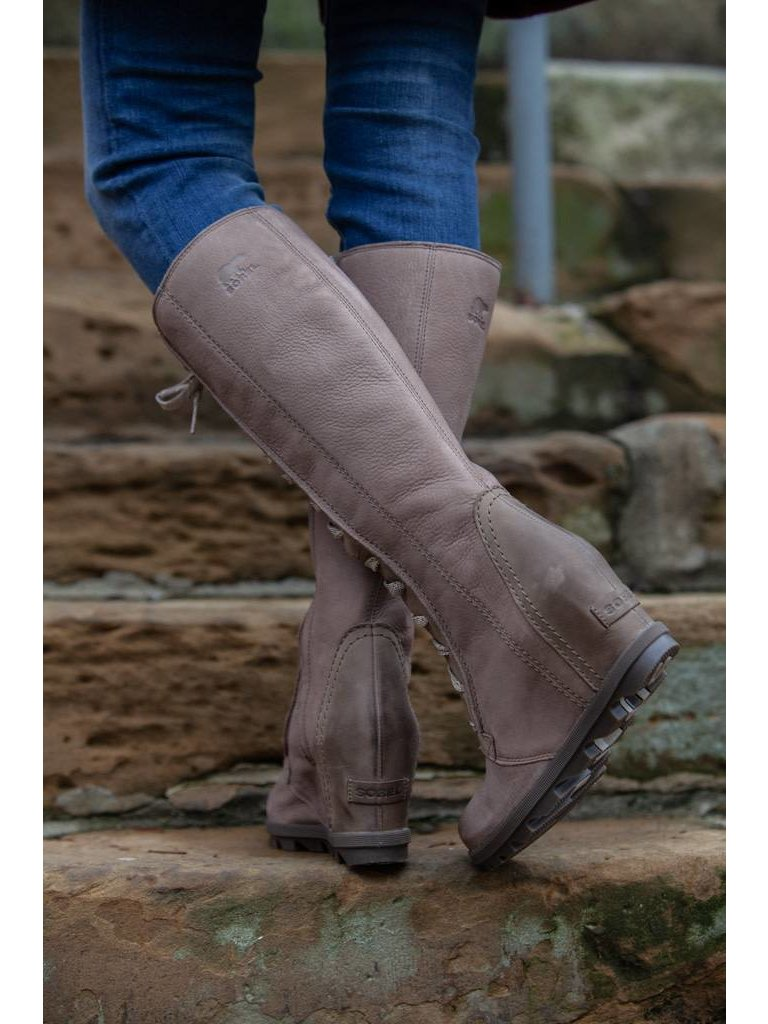 759cd1ab54a Sorel - Joan Of Arctic Wedge II Tall Boots - Ash Brown