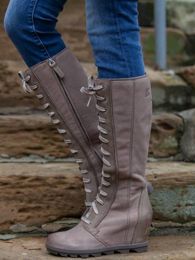 8831d5cdc47a Sorel - Joan Of Arctic Wedge II Tall Boots - Ash Brown. 6  6.5