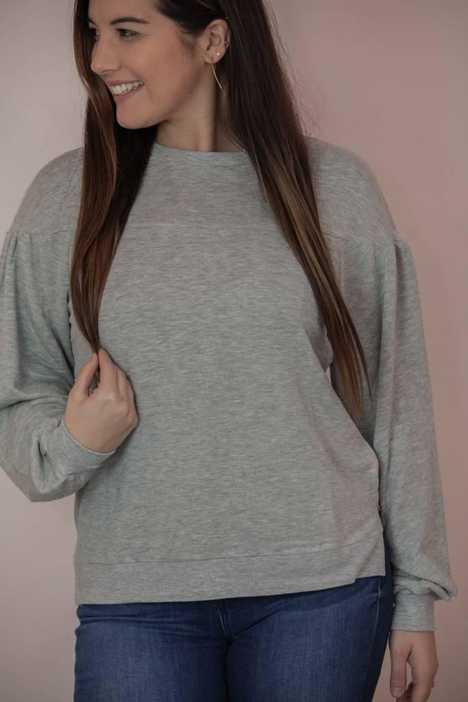 659a0229ecd0 The Elizabeth Premium Fleece Pullover - Heather Grey