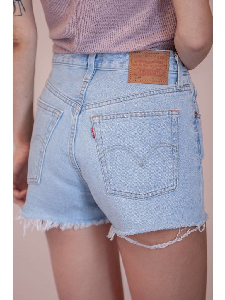 fd8caeff Levi's - 501® Button Fly High Rise Shorts - Weak In The Knees - Flutter
