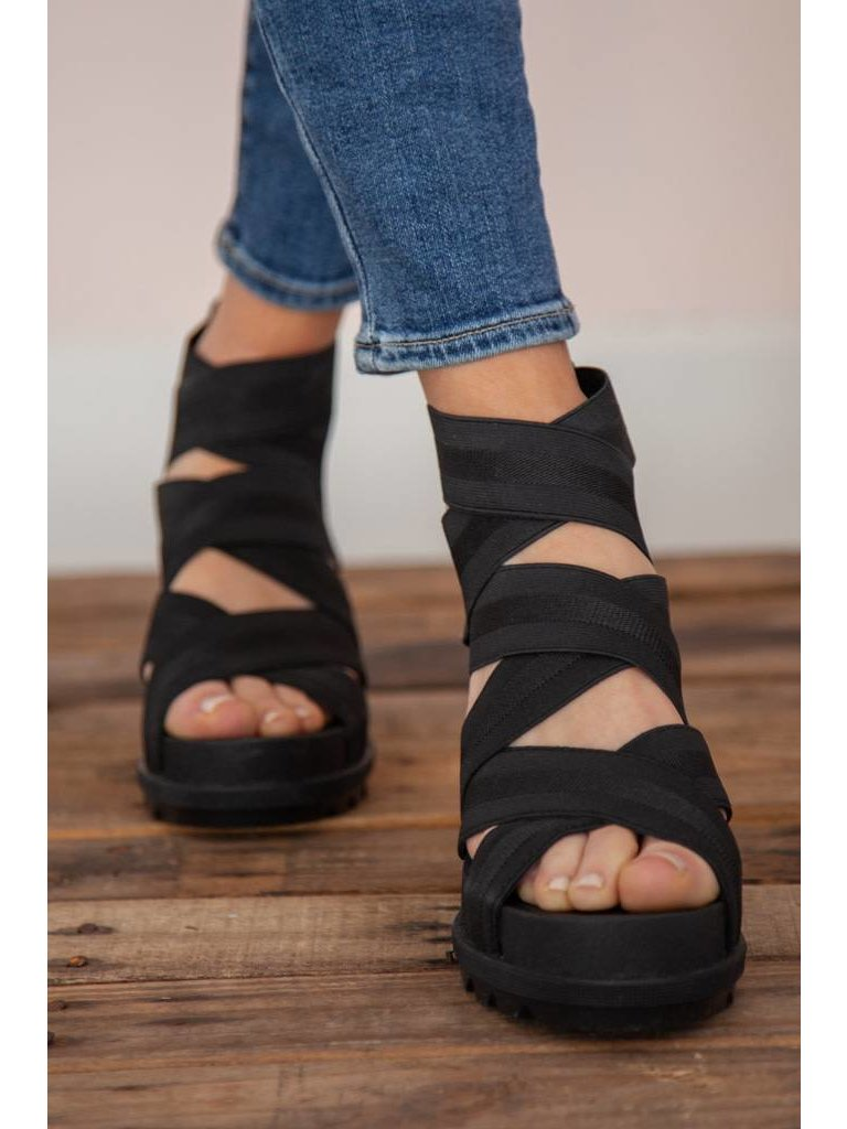 ed3dc3687 Sorel - Joanie II Strap Wedge Sandal - Black - Flutter