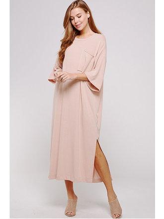 8f63a8f92e6 Kandy Oversized T-Shirt Maxi Dress - D.Rose. Small  Medium  Large