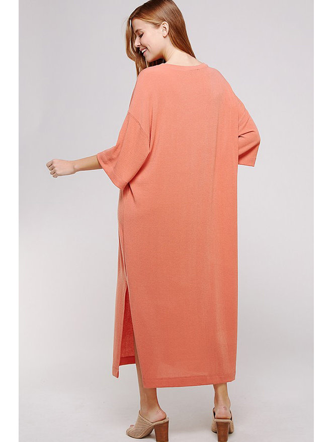 4055b3873d8 Kandy Oversized T-Shirt Maxi Dress - Orange - Medium. Add to cart