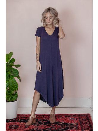 94fe4e23546 Annalina Short Sleeve Maxi Dress - Eclipse - Large