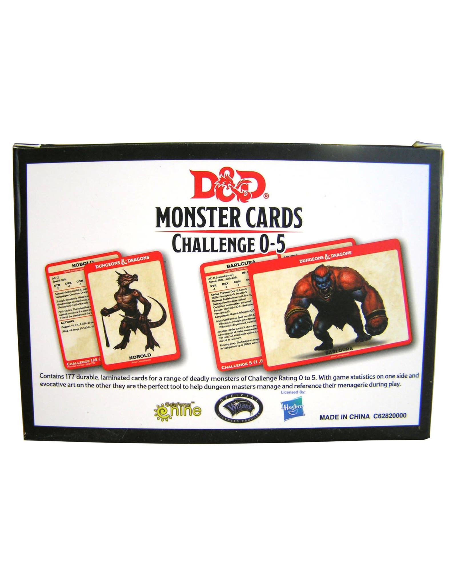 GaleForce9 D&D: Monster Cards - Challenge 0-5 Deck
