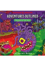 Wizards of the Coast D&D Adventures: Outlined Coloring Book