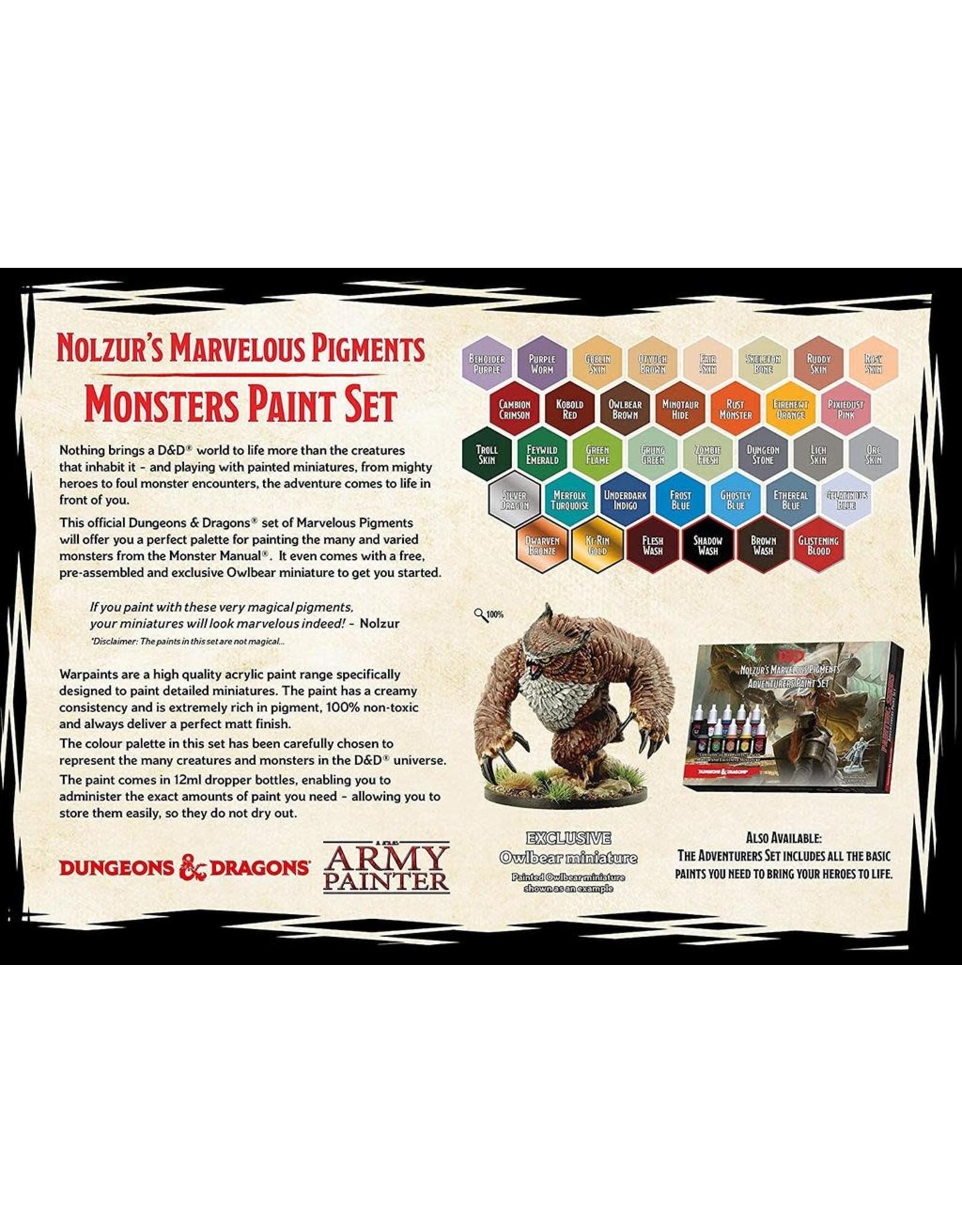 Army Painter Paint Set: D&D 5th Edition- Nolzur's Marvelous Pigments- The Monsters Paint Set