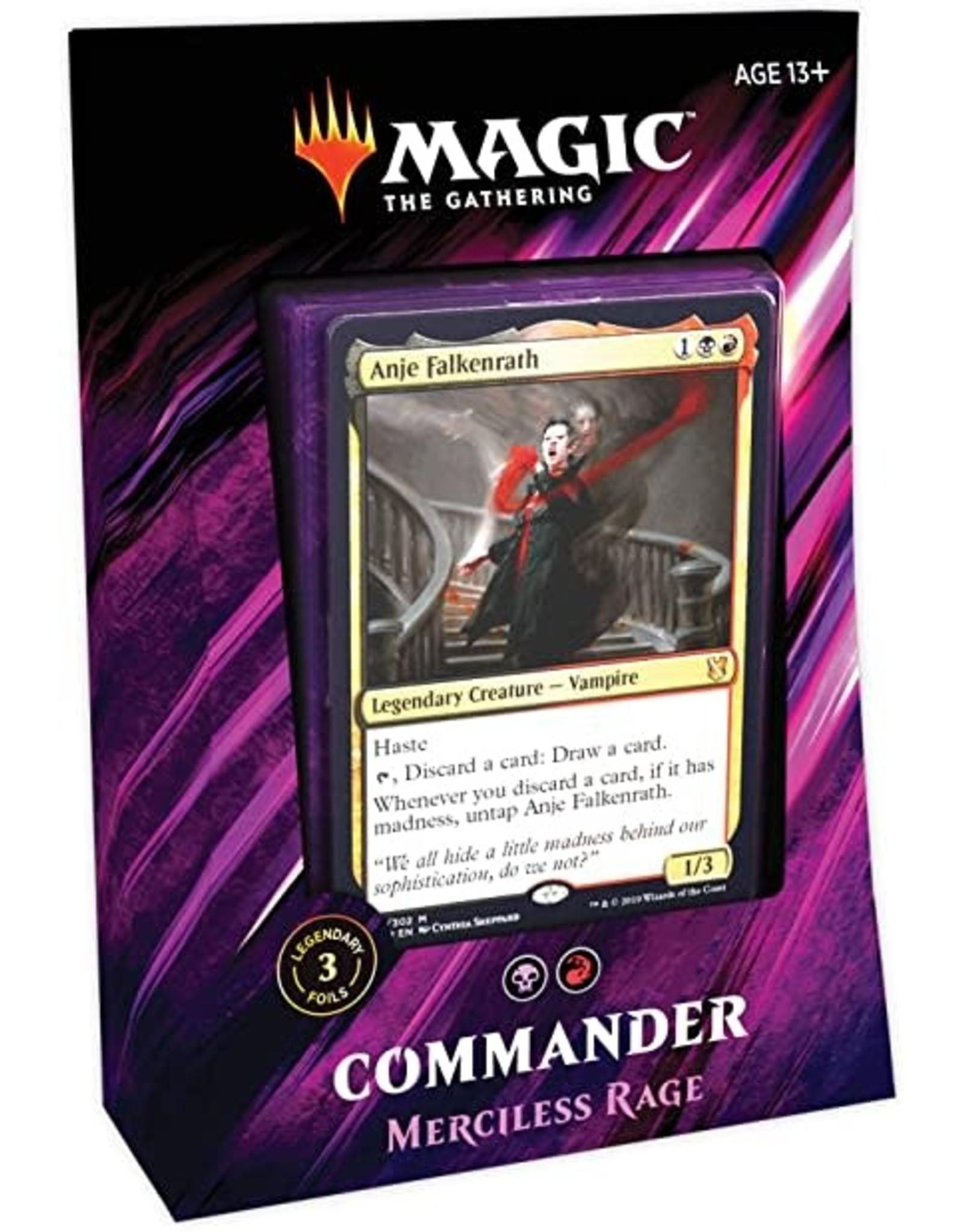 Wizards of the Coast MtG: Commander 2019 Deck: Mercilless Rage
