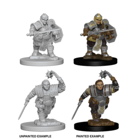 WizKids WZK: NMM: W2: Dwarf Female Fighter