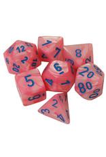 Chessex Chessex: 7-Die Set: Lustrous: Pink/Blue