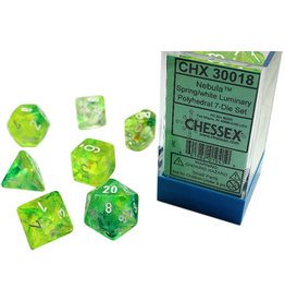 Chessex Chessex: 7-Die Set: Nebula: Spring/White