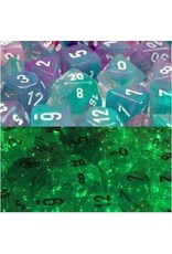 Chessex Chessex: 7-Die Set: Nebula: Wisteria/White