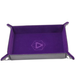 Die Hard Dice Die-Hard-Dice: Folding Rectangle Tray - Purple Velvet