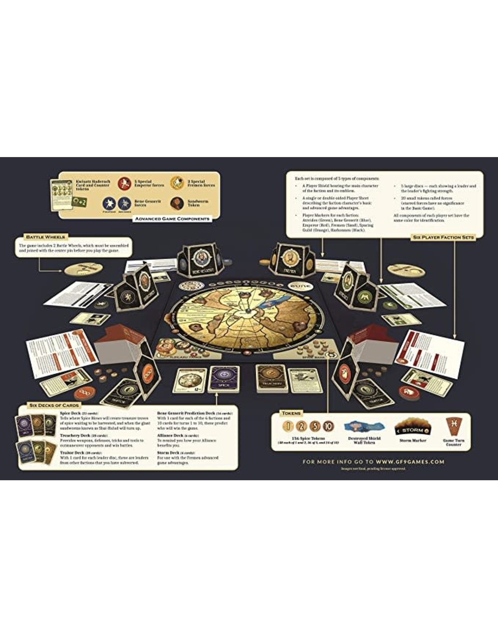 GaleForce9 Board Game: Dune
