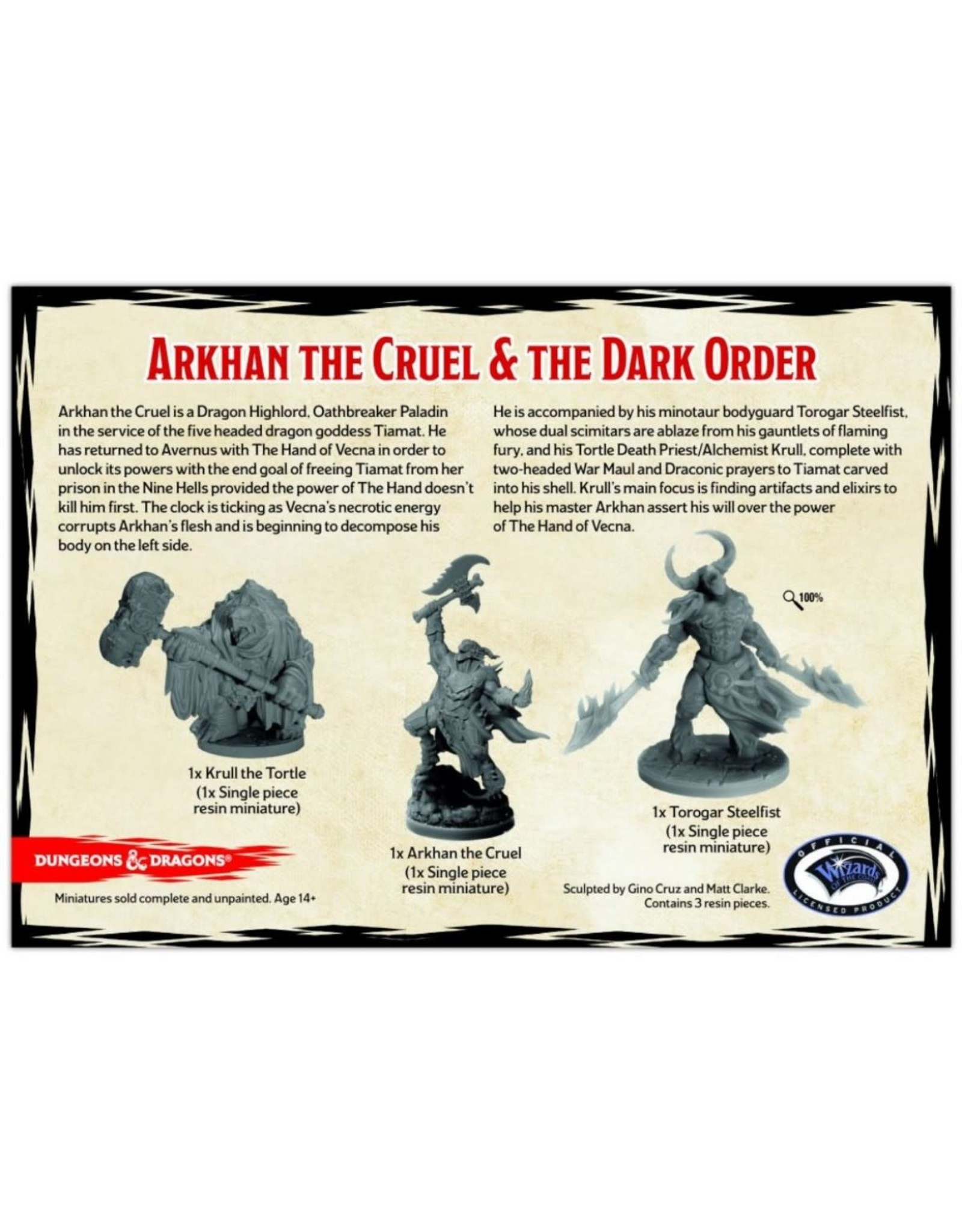GaleForce9 GF9: D&D Collector's Series: Arkhan the Cruel & the Dark Order